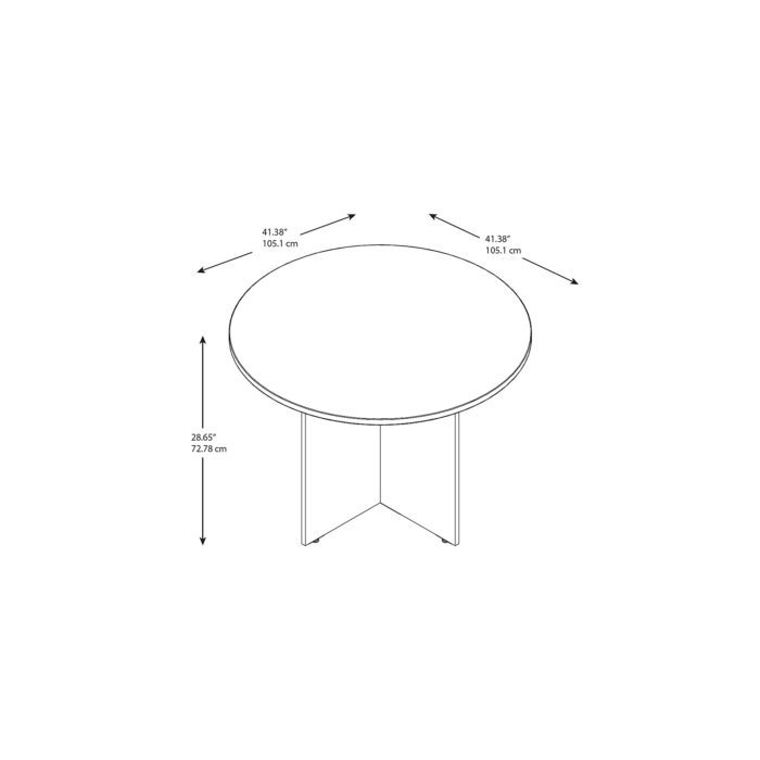 Bush Business Furniture 42W Round Conference Table with Wood Base