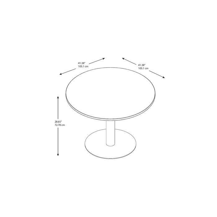 Bush Business Furniture 42W Round Conference Table with Metal Disc Base