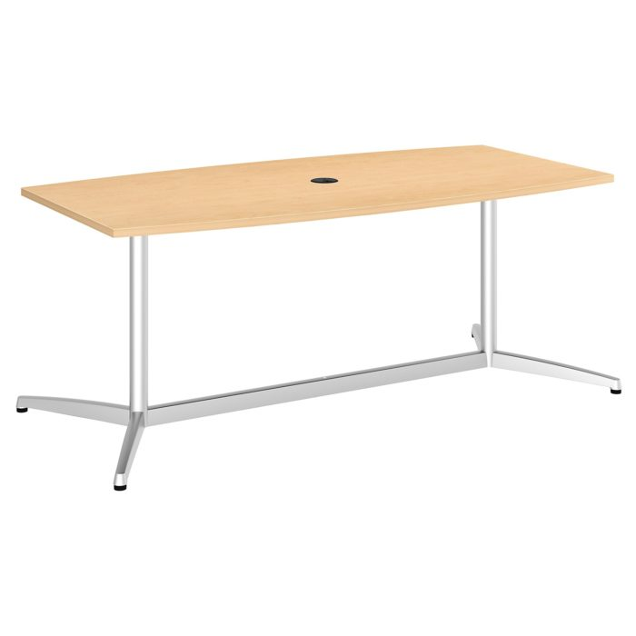 Bush Business Furniture 72W x 36D Boat Shaped Conference Table with Metal Base