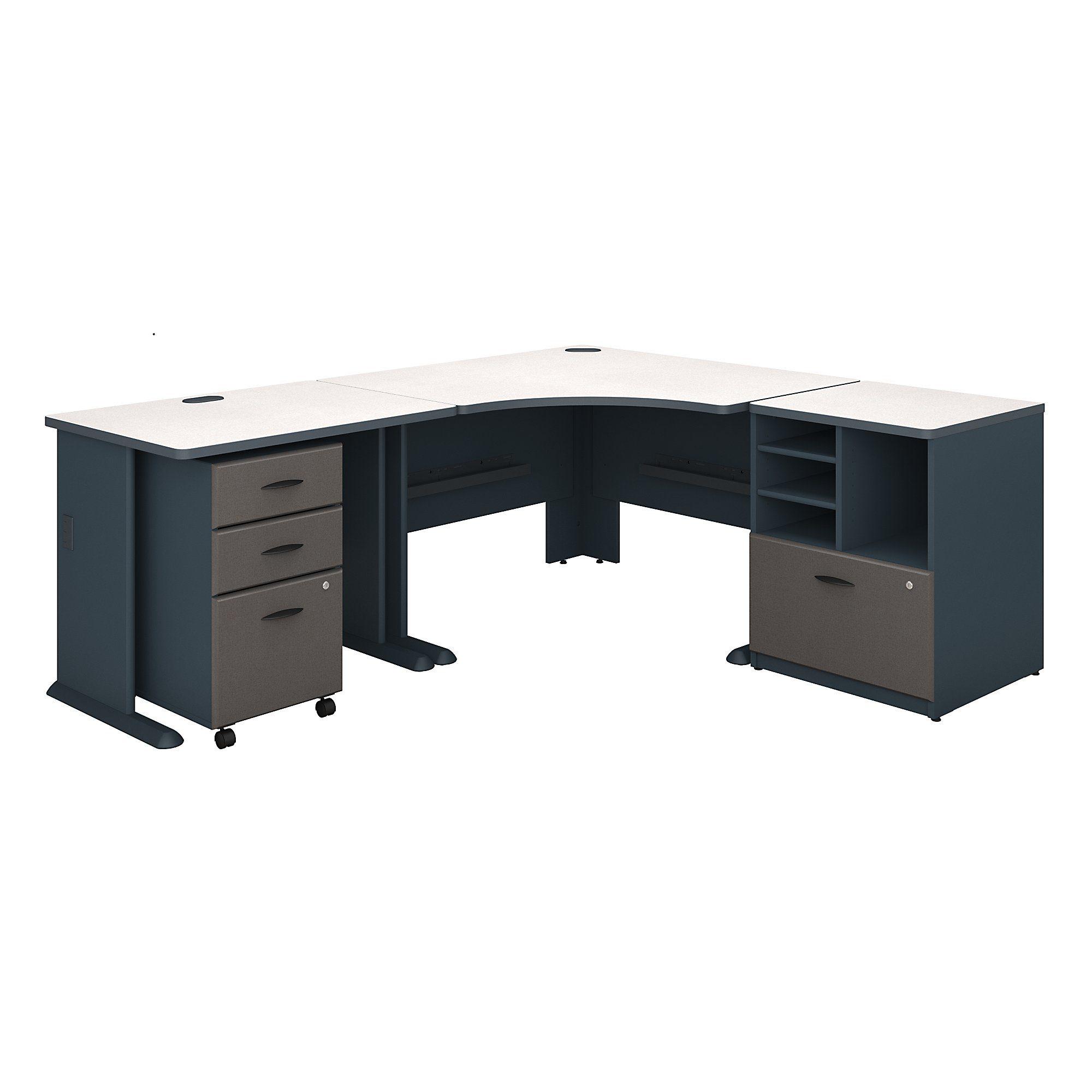 Bush Business Furniture Series A 48w Corner Desk With 36w
