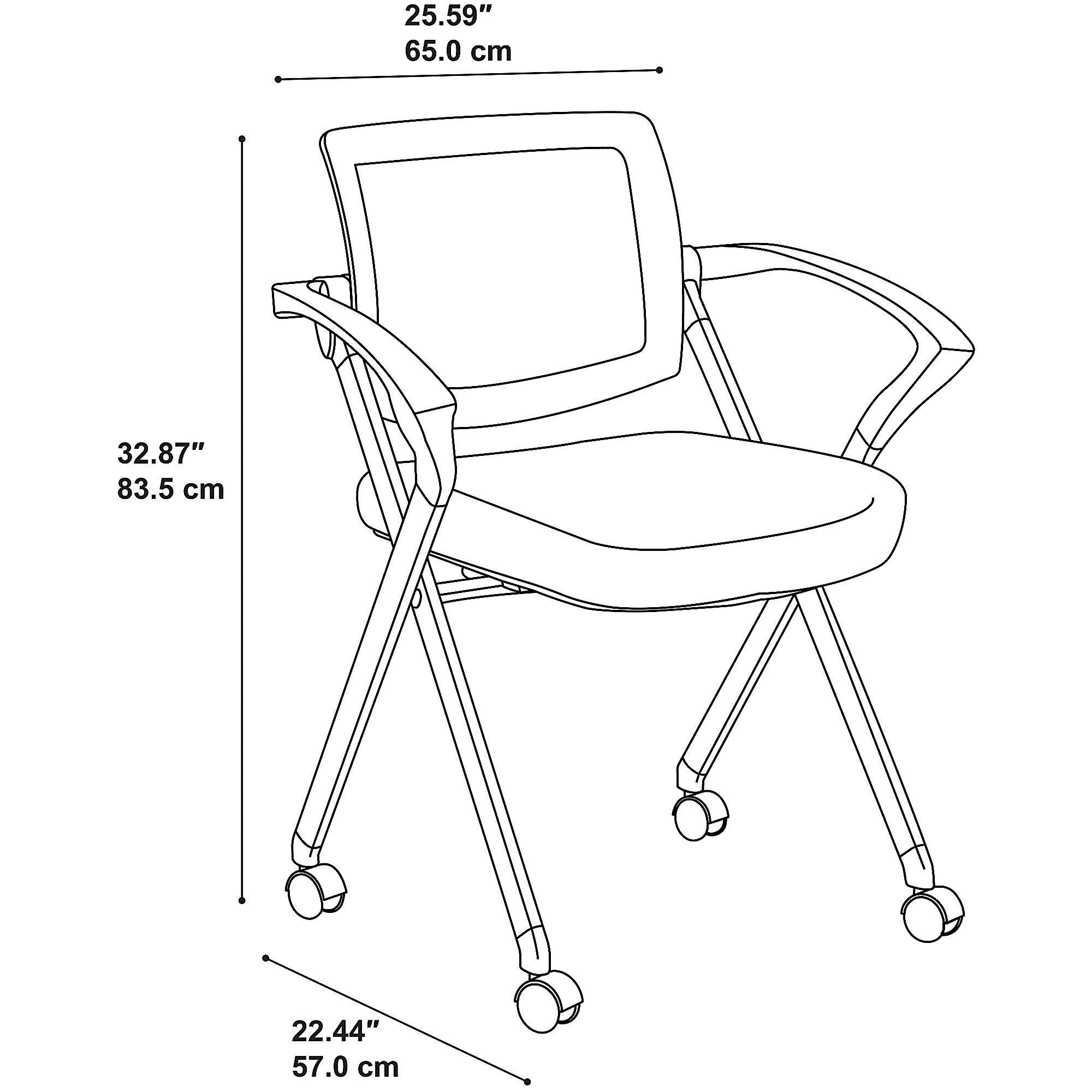 Bush Business Furniture Corporate Mesh Back Folding Office