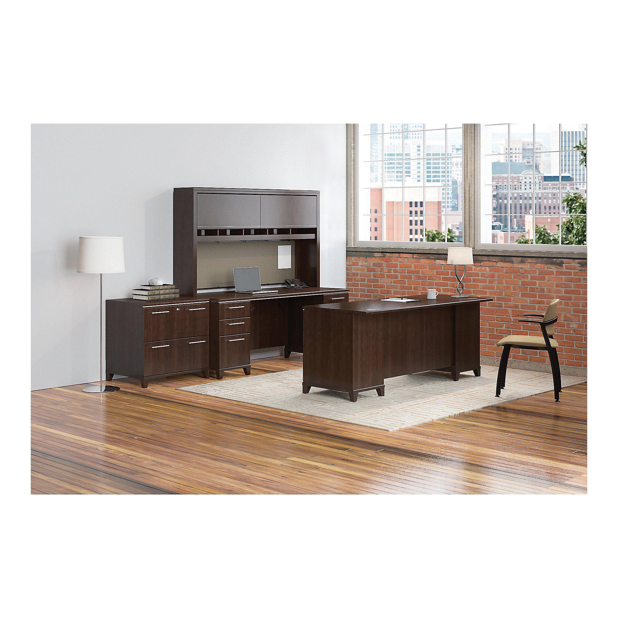 Bush Business Furniture Enterprise 72w Double Pedestal Desk With