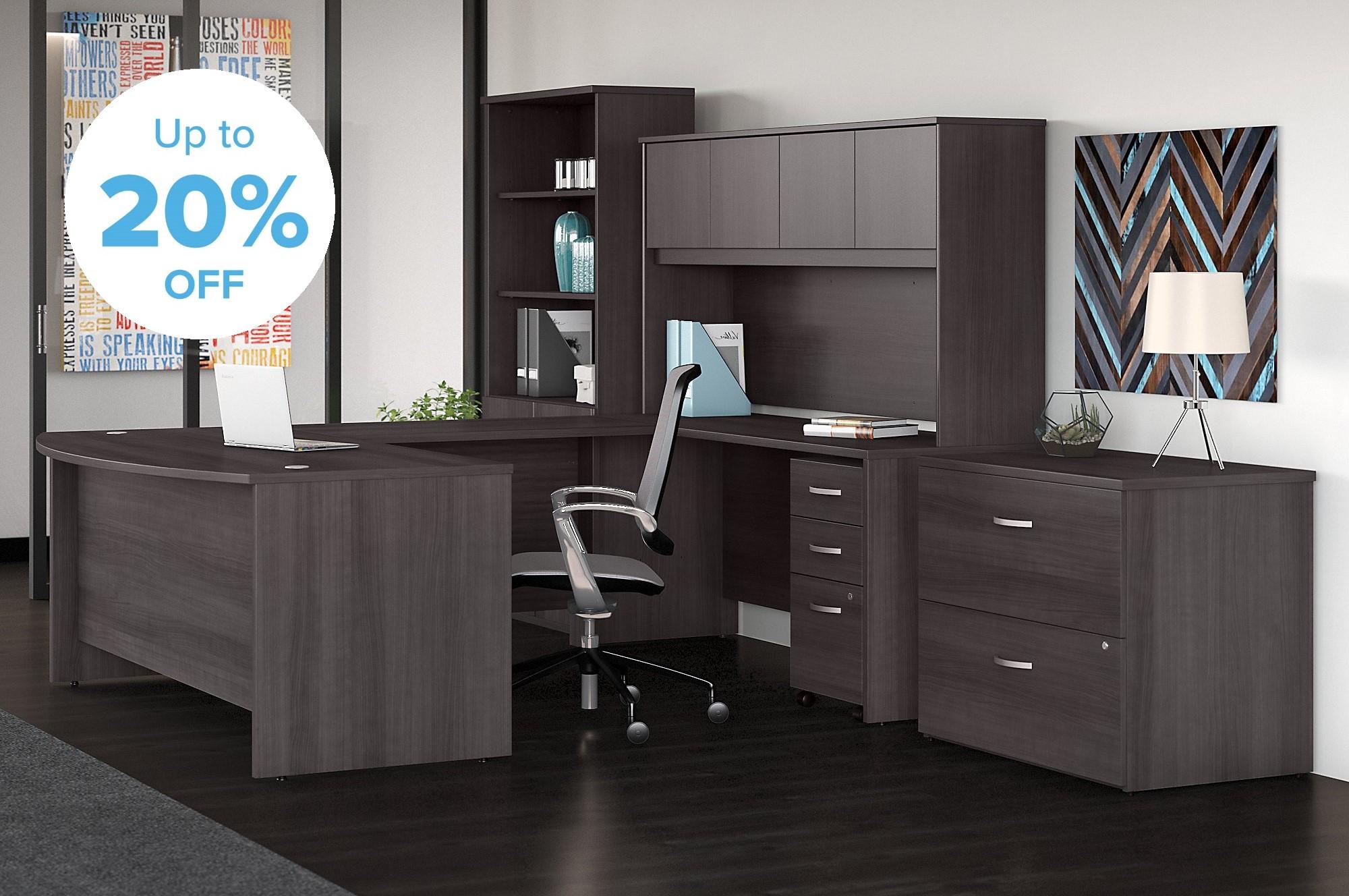 complete office furniture desk set promo