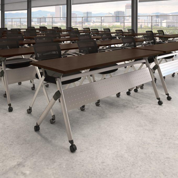 BBF Folding Table, Mocha Cherry
