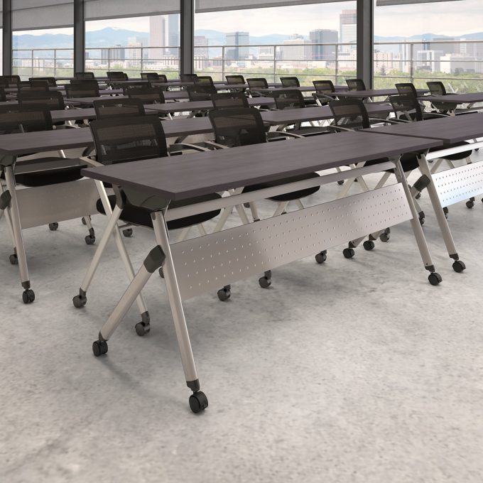 bush business folding training table