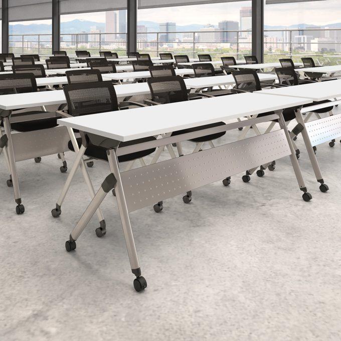 single, bbf folding table, white 72wx24d